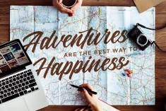 Adventures are the best way to Happiness