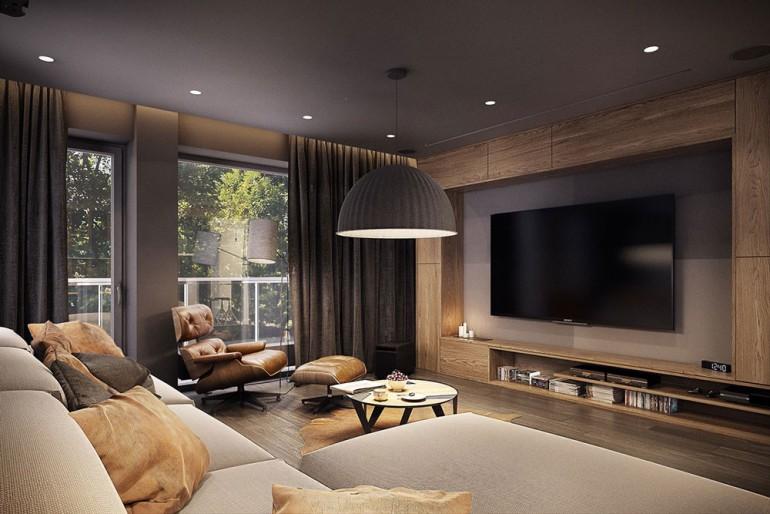 Modern living room – Modern apartment n°1 – img 01