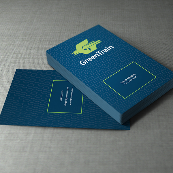 Green Train Business Card Design
