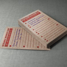 Recycled Kraft Business Card Design
