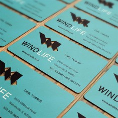Die Cut Business Card Design for WindLife