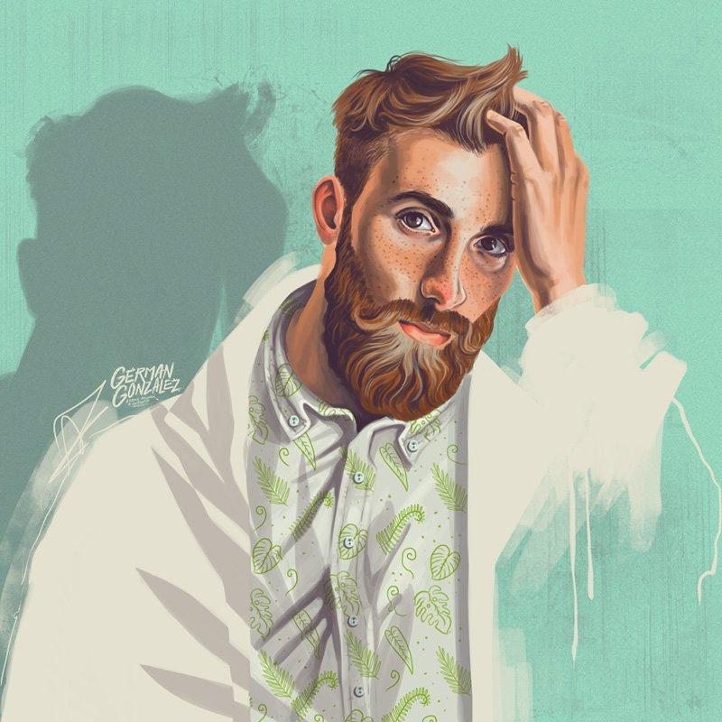 Beautiful Portraits Illustration by German Gonzalez