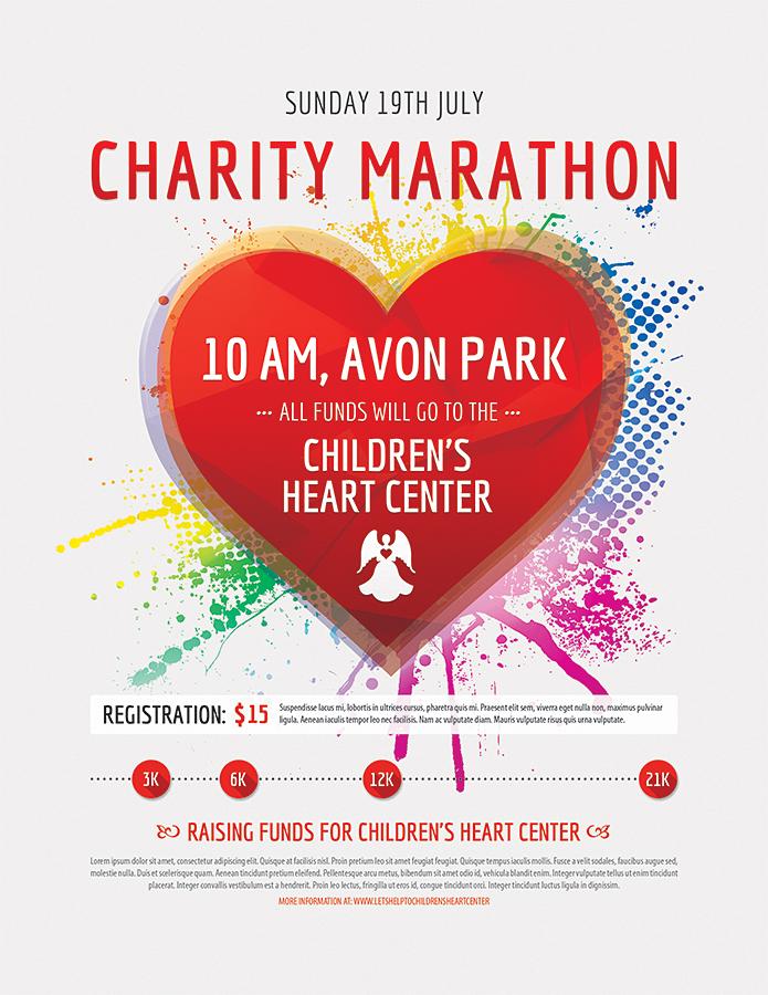 Charity Marathon Flyer Design