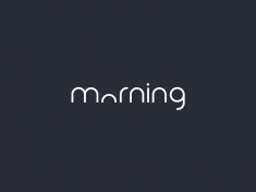 Clever Logo Morning Wordmark / Verbicons by Duminda Perera