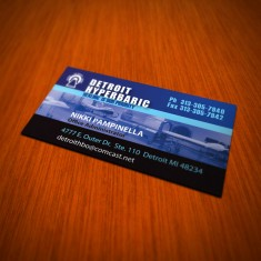 Detroit Hyperbaric Business Card Design