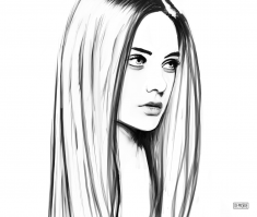 Simple Portrait Sketch 2017 by DEMORIE Model – Nastya Kushakina