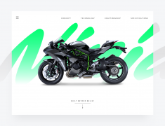 The Kawasaki Ninja H2™R hypersport motorcycle landing page