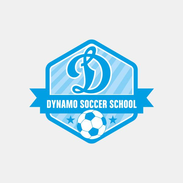 Dynamo Soccer School Logo Design