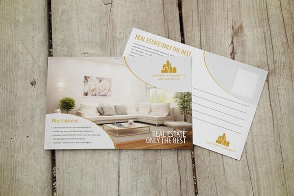 Interior Designer Postcard Design