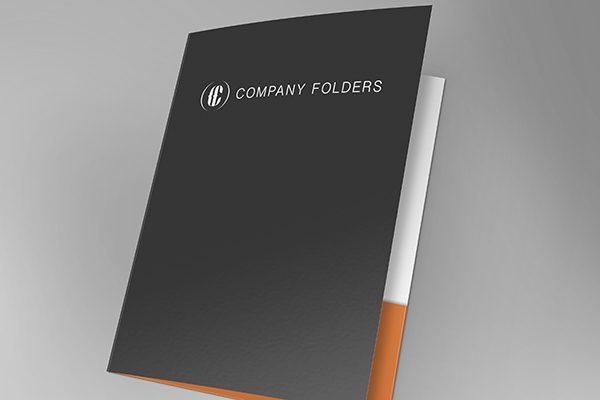 Front Open Folder Mockup Template