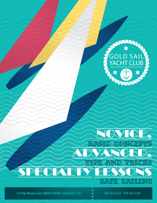 Yacht Club Flyer Design