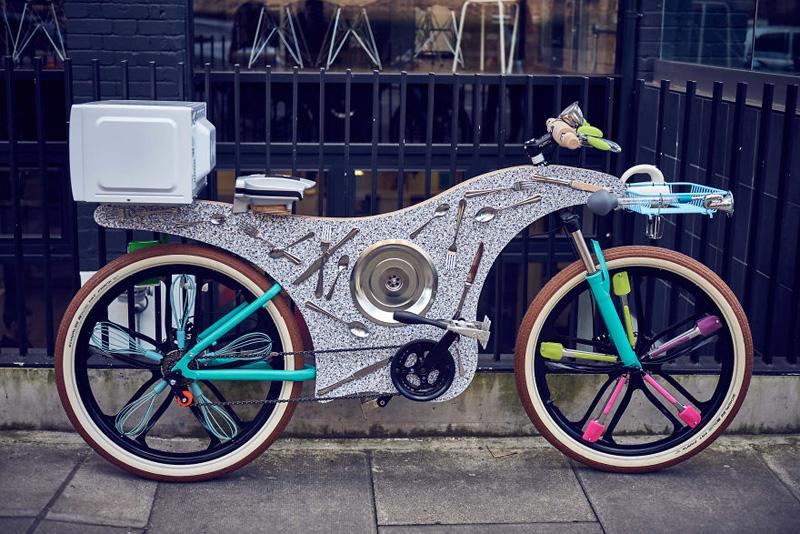 74 Kitchen Utensils Were Used to Make This Bike
