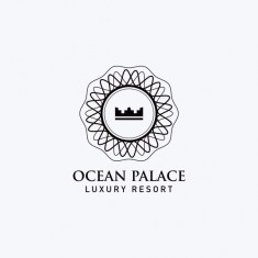 Ocean Palace Resort Logo Design