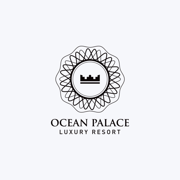 Ocean Palace Resort Logo Design