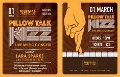 Pillow Talk Jazz Concert Flyer