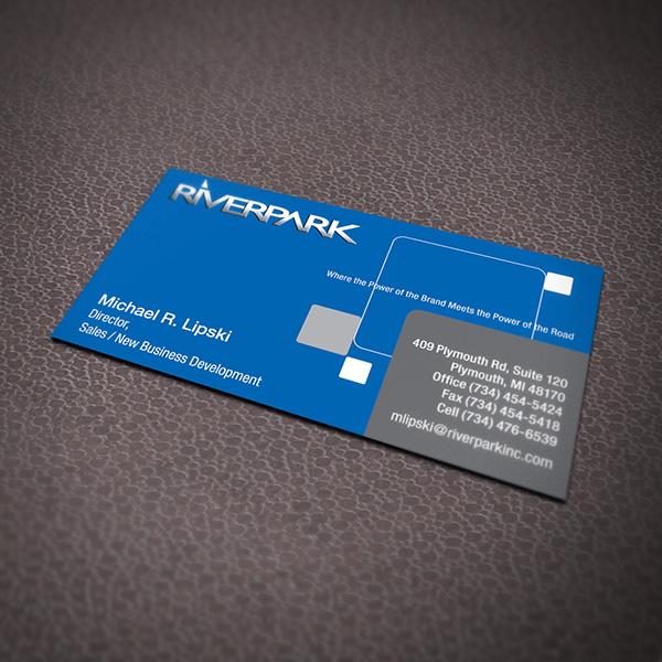 River Park Business Card Design