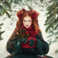 Russian Fairy Tales Come to Life into Fashion Portraits