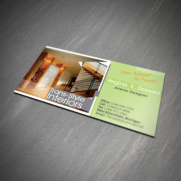 Charmant Interior Design Business Card