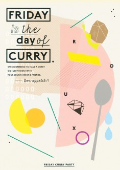 FRIDAY is the day of CURRY : Poster Design