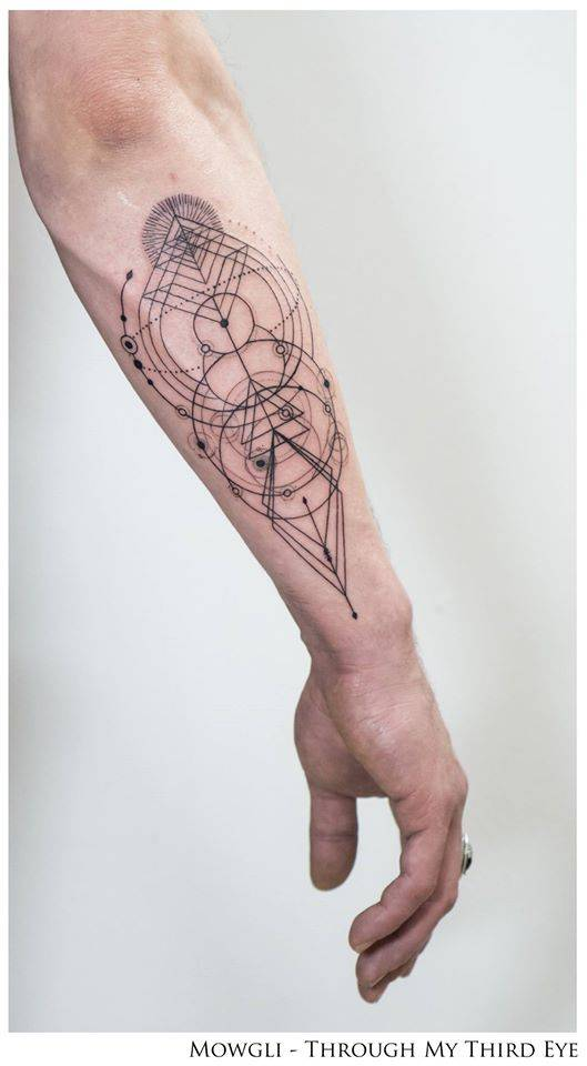 Inherent Truth – Geometric style tattoo