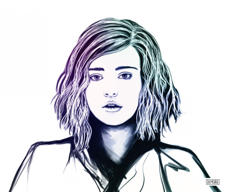 Portrait Sketch – Katherine Langford – 13 Reasons Why – Digital Art