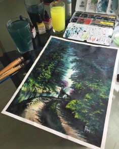 Stunning Watercolor Landscape Nature Paintings