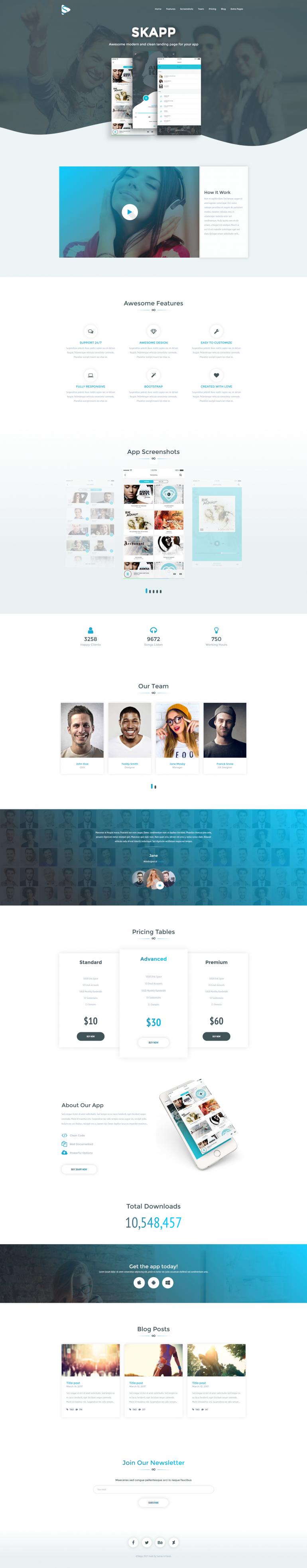 Skapp – App HTML Template