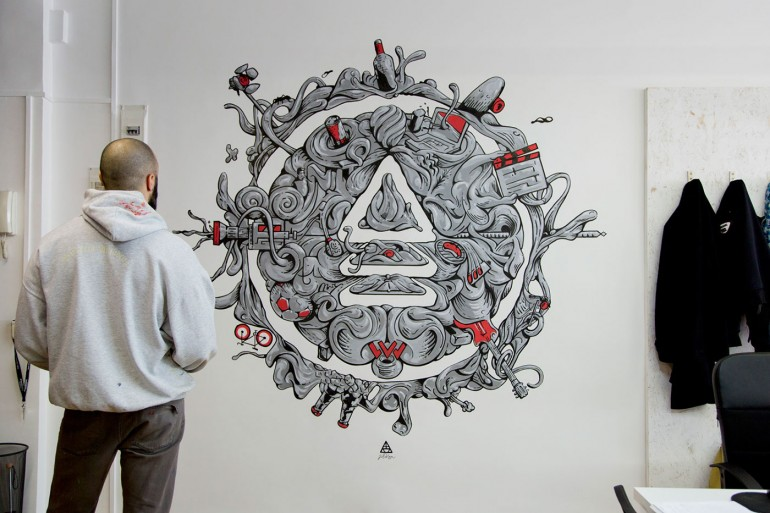 Antiestatico wall Mural