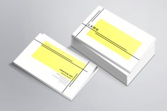 Simple minimal professional business card template in 4 colors