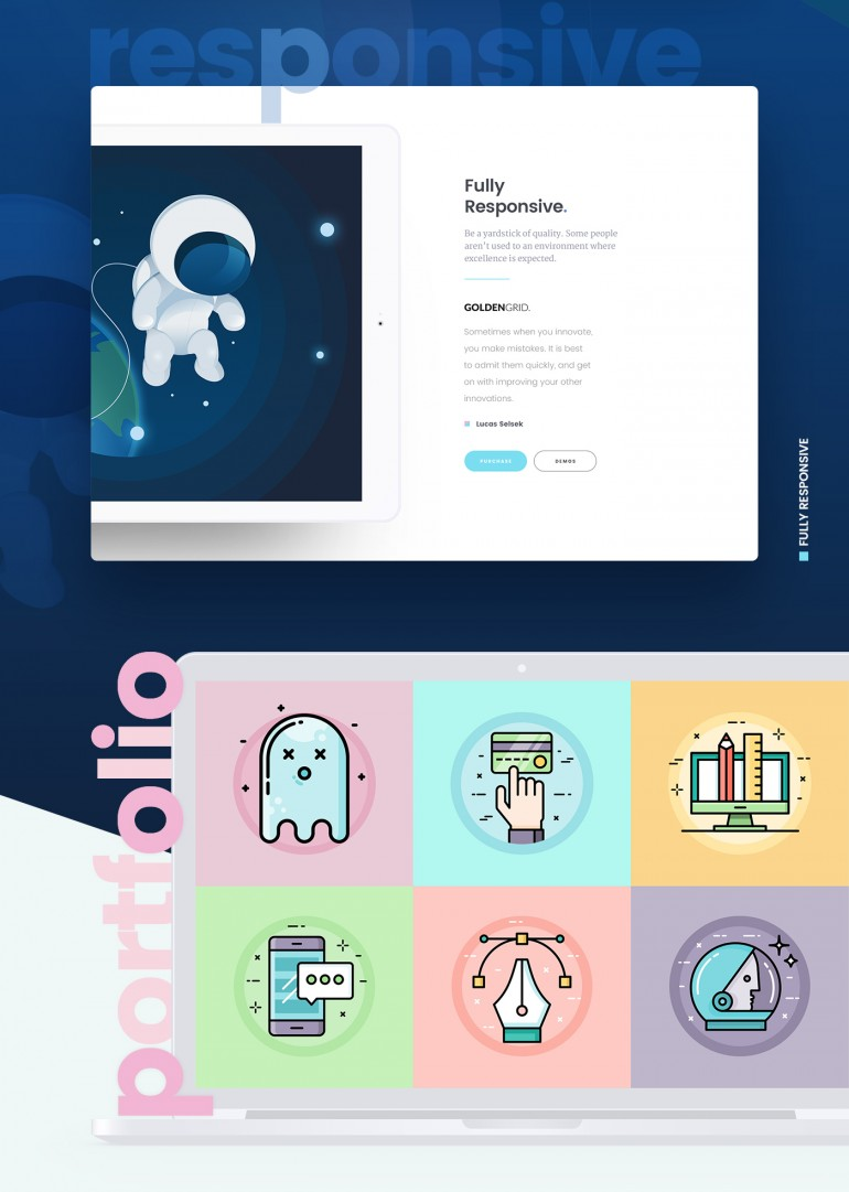 Cesis One Page – Flat Style Concept
