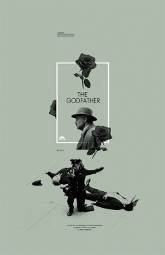 The Godfather alternative movie poster designed by Adam Juresko