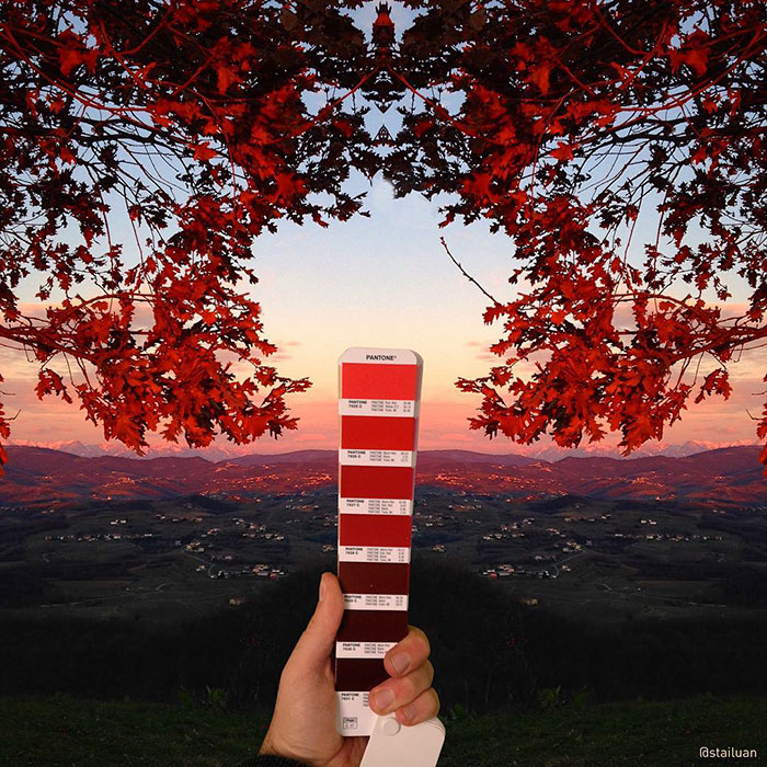 Italian Artist Finds Pantone Colors in Natural Landscapes