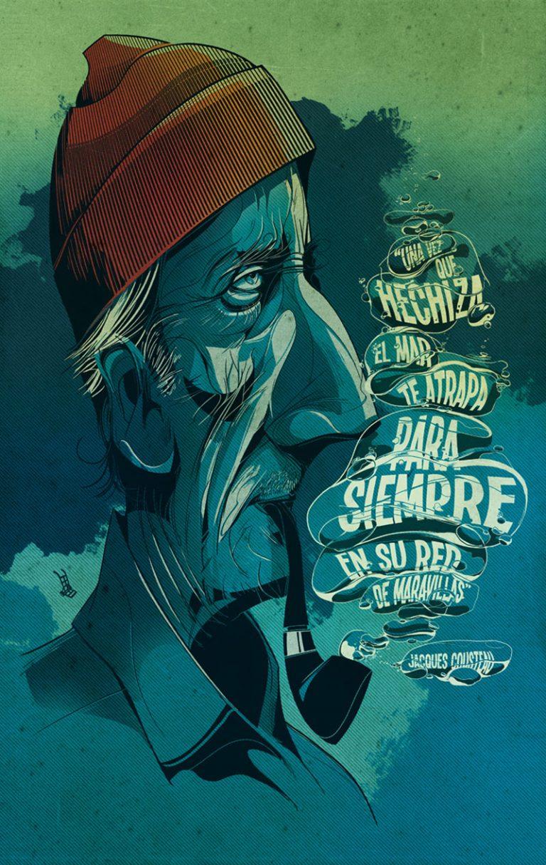 Jacques Cousteau Illustration