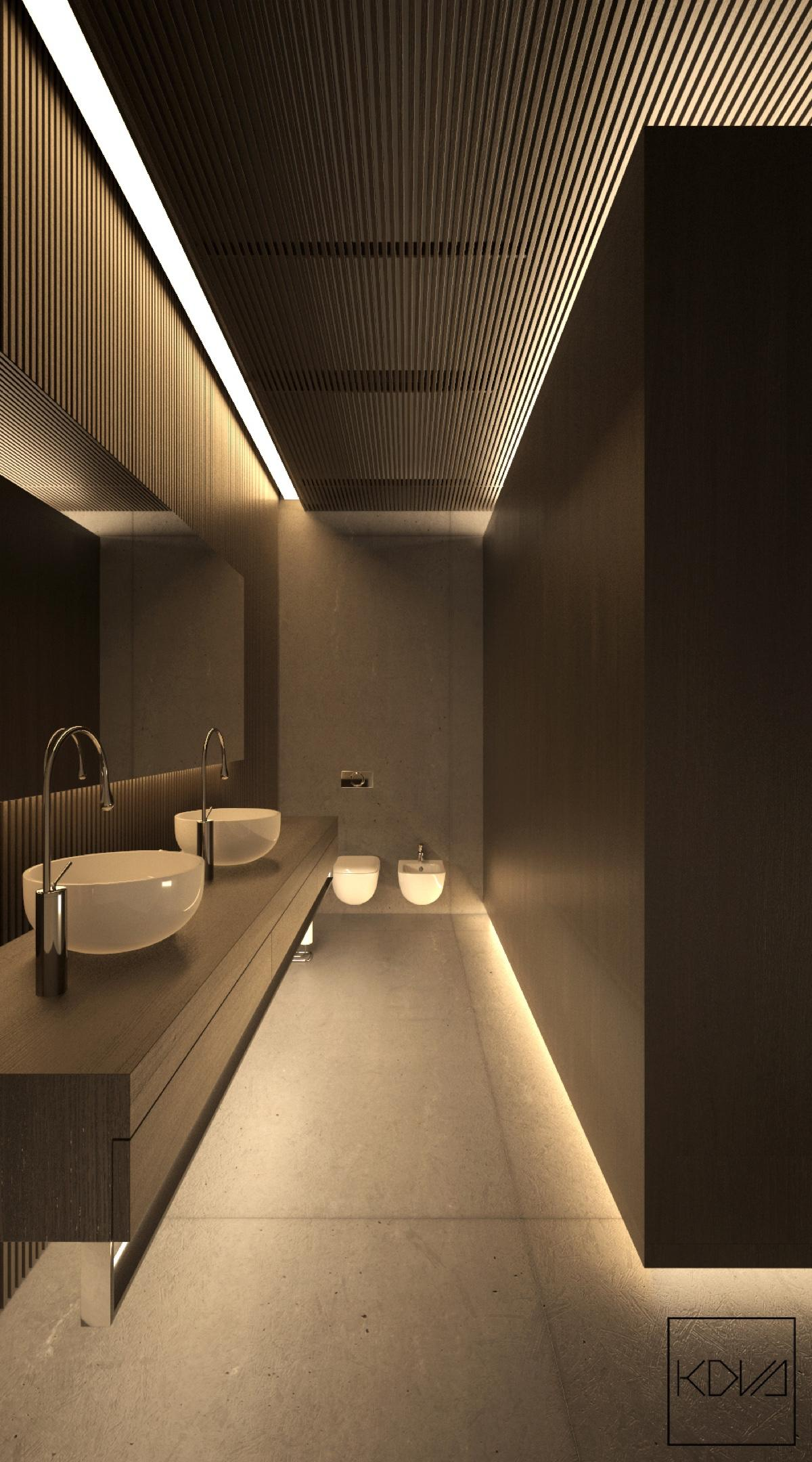 Minimalist monochromatic homes with modern lighting on for Modern minimalist lighting