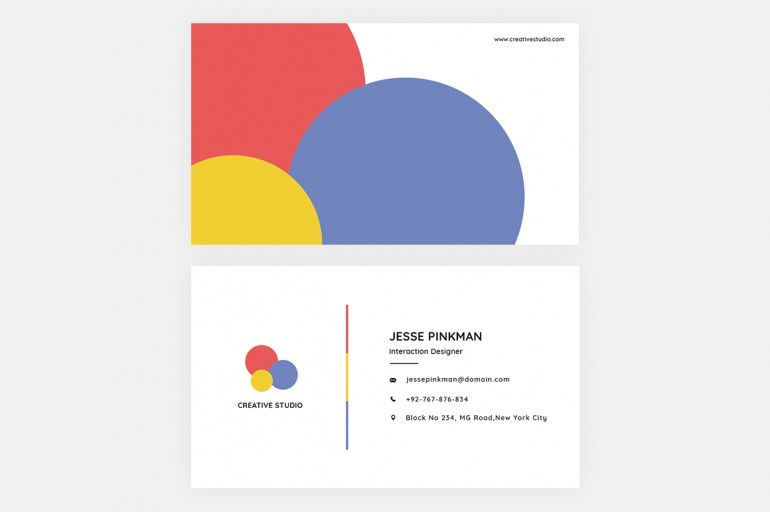 Clean Business card template by HDesigns