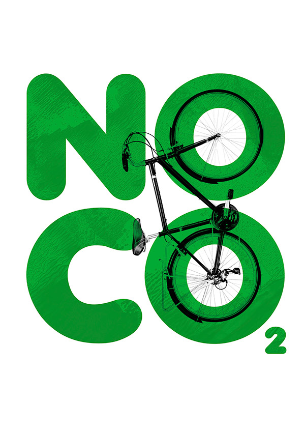 'NO C02' Cycling Poster