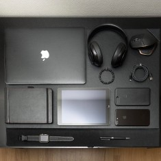 A full desk – Black Collection