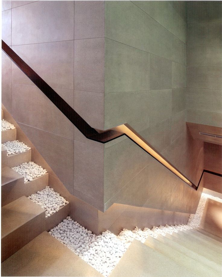 Staircase with Recessed Lighting