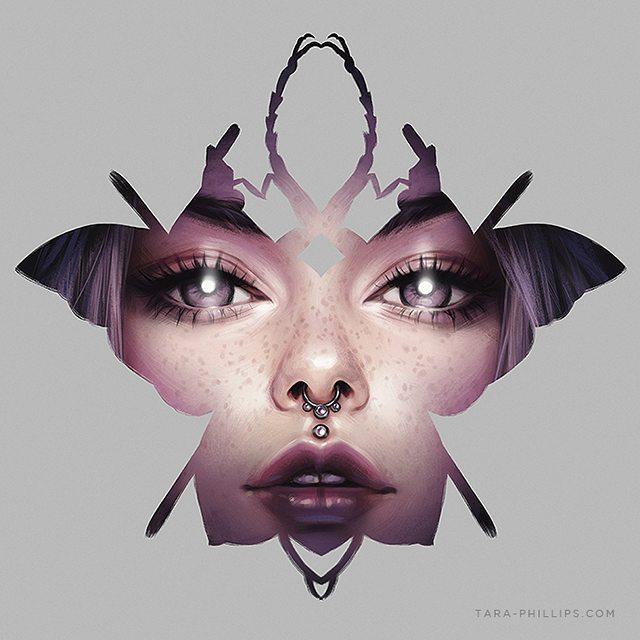 Wonderful Portrait Illustrations by Tara Phillips