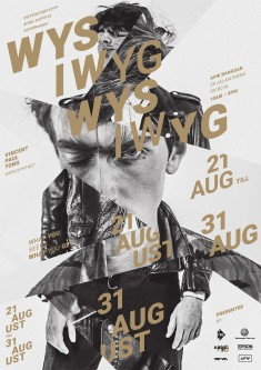 Poster design for Vincent Paul Yong's solo exhibition – WYSIWYG