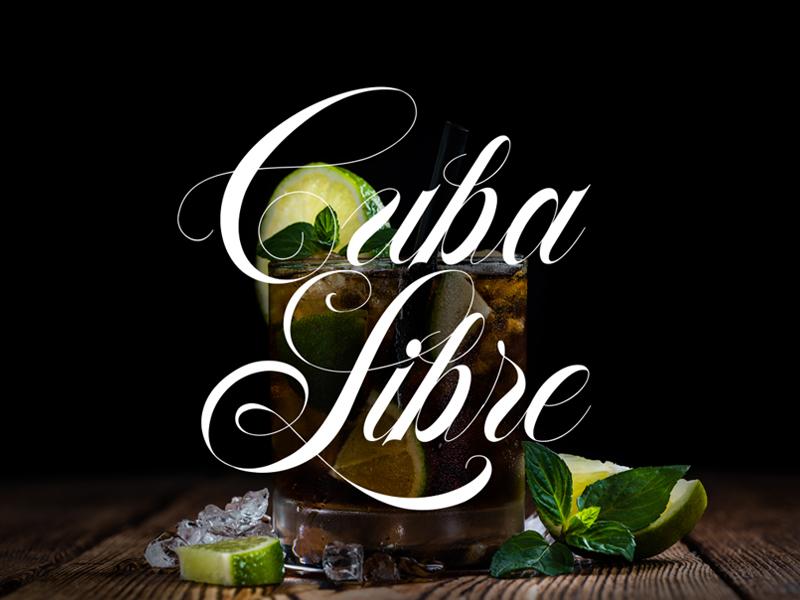Cuba Libre – Made with Flourish Typeface