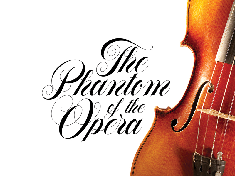 The Phantom of the Opera – Made with Flourish Typeface