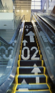 Signage on escalators
