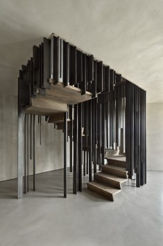 Staircase by storage associati