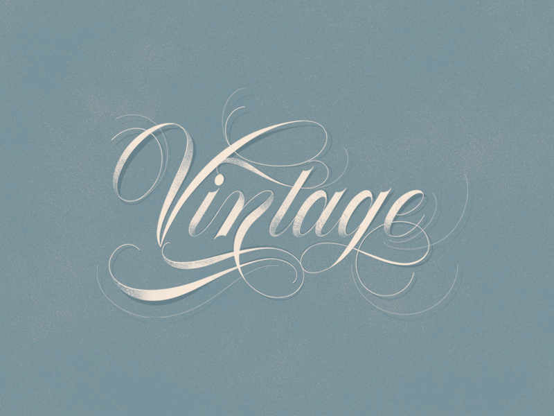 Vintage – Made with Flourish Typeface