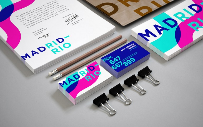 Diseño de la imagen de marca para la publicación MADRID-RIO. Creación de logotipo, manual corpor ...