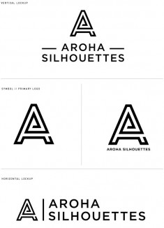 Aroha Silhouettes Jewelry // Logo Development