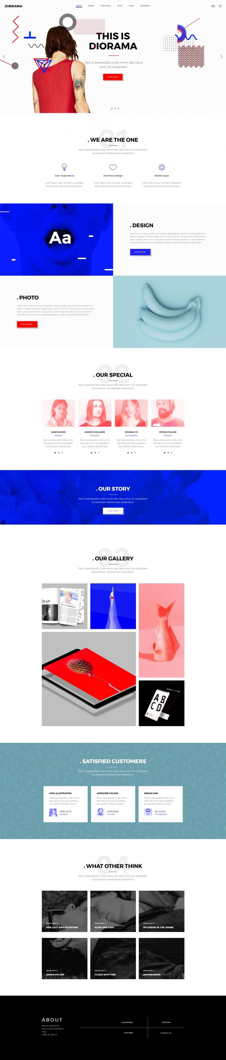 Diorama – A Bold Portfolio Theme for Agencies and Freelancers