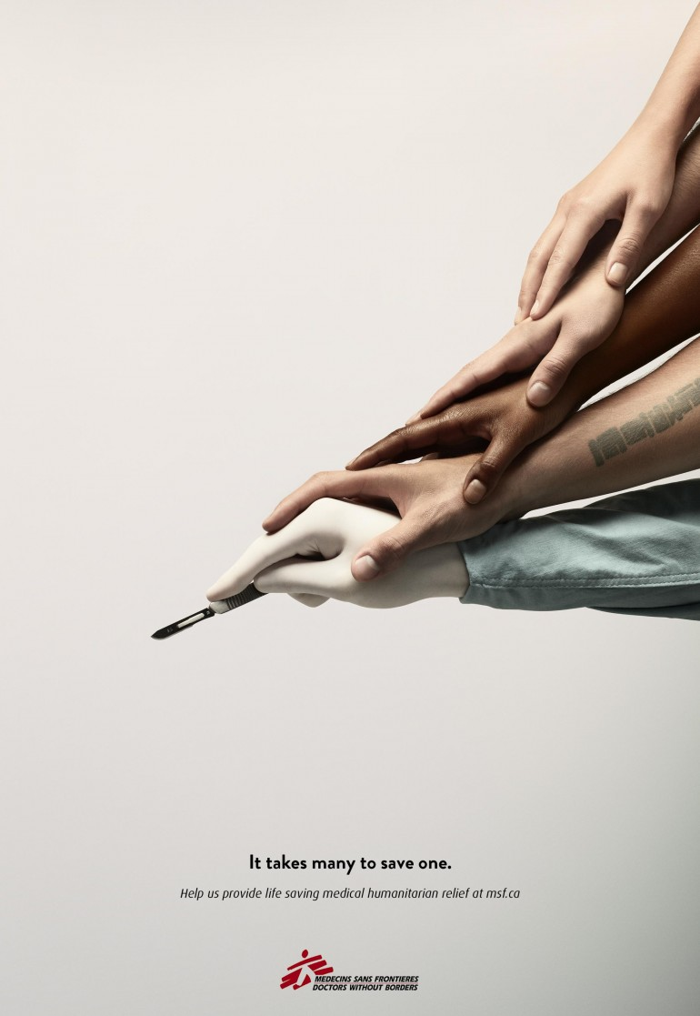 Doctors Without Borders Print Advert By John St: Scalpel