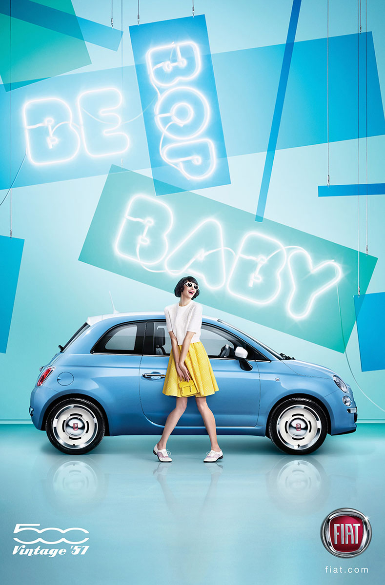 FIAT 500 'BE BOP BABY', 'Pop' and 'Kicks!' By Max Oppenheim